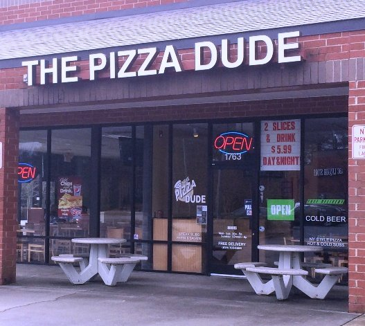 Front of Pizza Dude in Apex, NC Triangle Dining