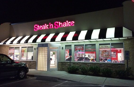 Front of Steak n Shake in Raleigh- NC Triangle Dining