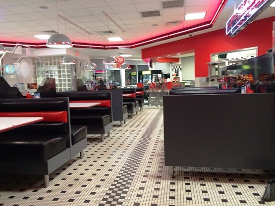 Inside of Steak n Shake in Raleigh- NC Triangle Dining