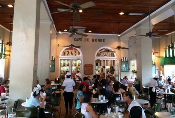 Inside of Cafe Du Monde, New Orleans- NC Triangle Dining