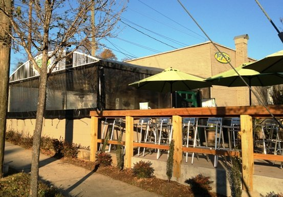 Patio at Mojoe's Burger Joint, Raleigh- NC Triangle Dining