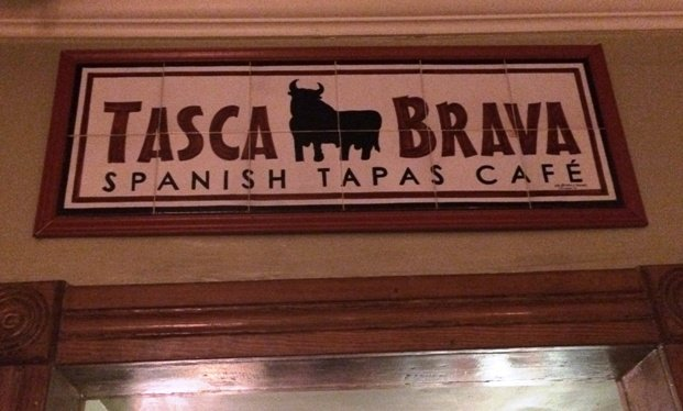Sign inside of Tasca Brava in Raleigh- NC Triangle Dining