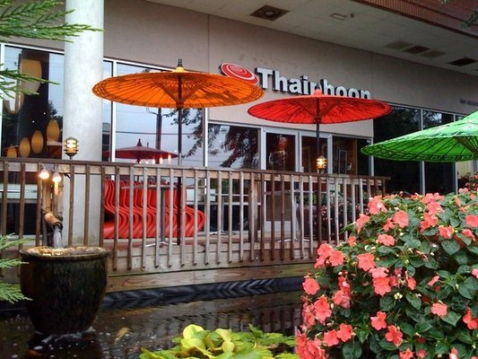 Patio at Thaiphoon in Raleigh, NC Triangle Dining