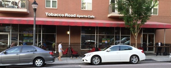 Front of Tobacco Road Sports Cafe in Raleigh, NC Triangle Dining