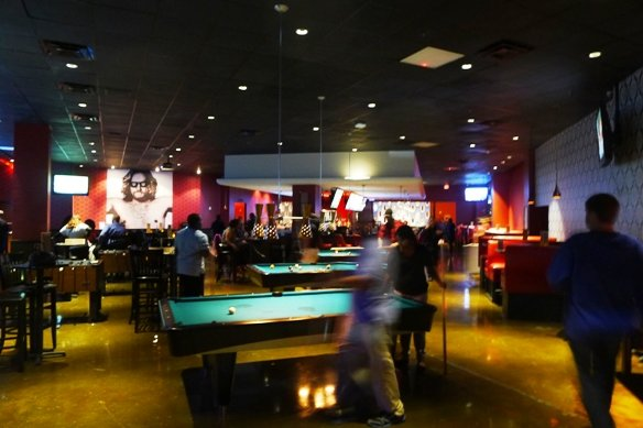 Gaming area at Kings Bowl North Hills in Raleigh- NC Triangle Dining