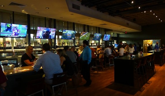 Back bar at TACO MAC in Cary, NC Triangle Dining
