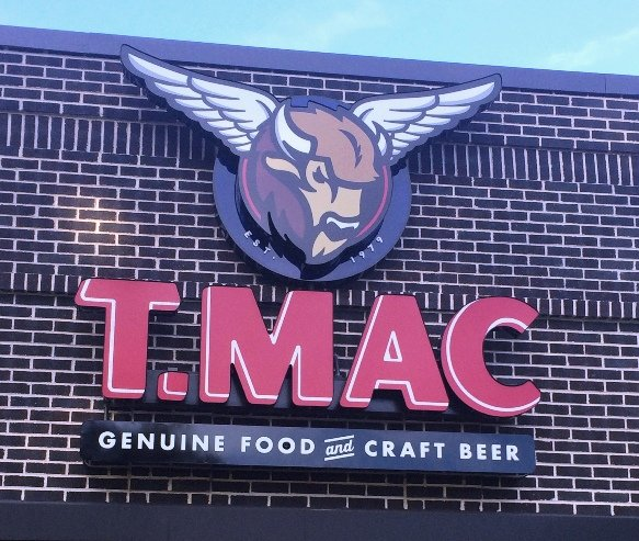 TACO MAC sign out front in Cary, NC Triangle Dining