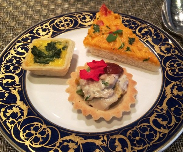 Plate Of Treats For Afternoon Tea At The Fairview Dining Room, Durham  NC  Triangle