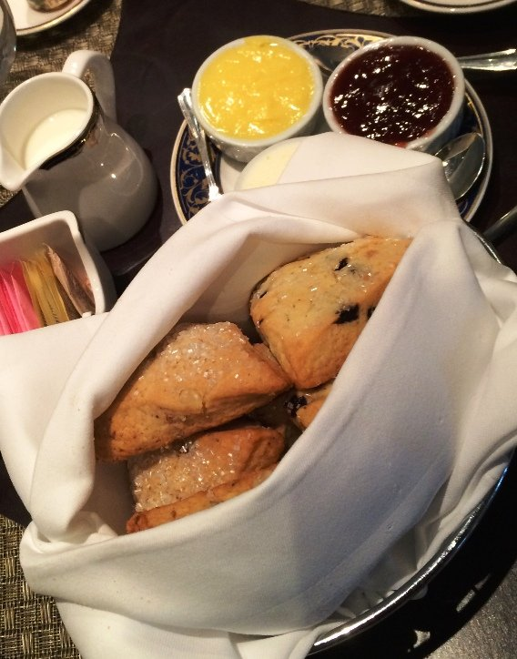 Scones for afternoon tea at the Washington Duke Inn, Durham- NC Triangle Dining