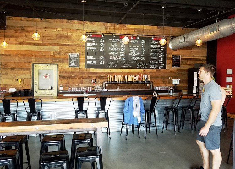 Bar at the new Bull City Ciderworks on Roxboro St in Durham - NC Triangle Dining