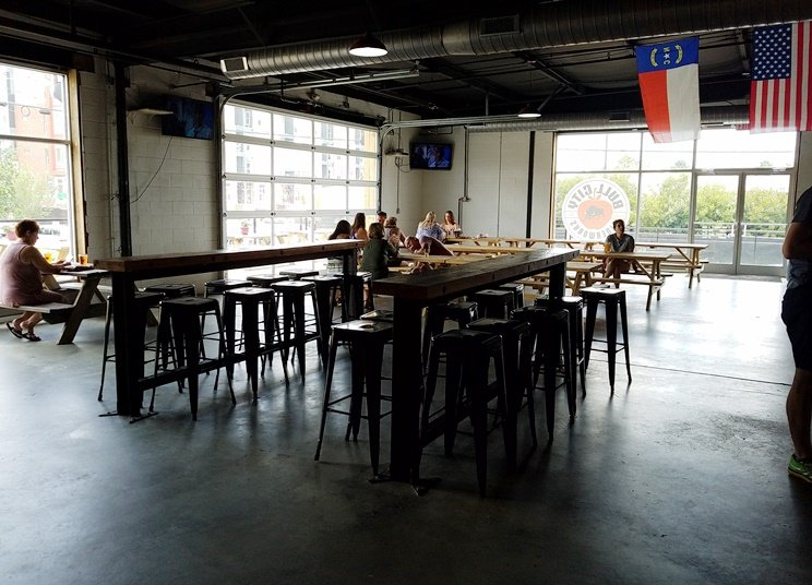 Large space at the new Bull City Ciderworks on Roxboro St in Durham - NC Triangle Dining