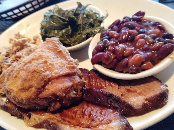Three-meat plate at the Pit, Raleigh - NC Triangle Dining