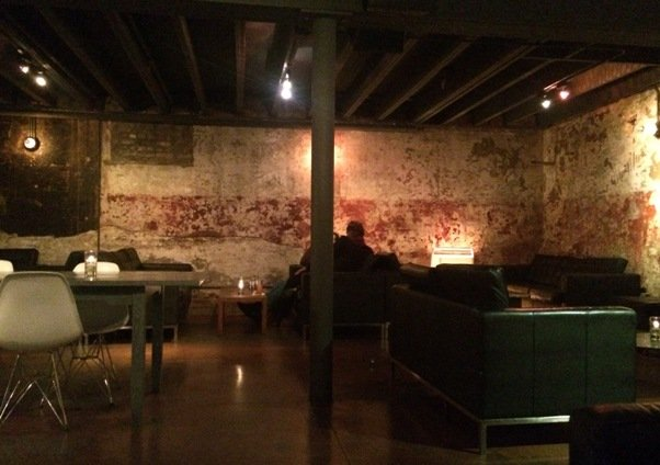 Lounge area at Fox Liquor Bar, Raleigh- NC Triangle Dining