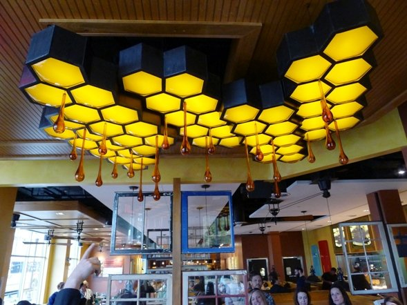 Honey comb sculpture at Tupelo Honey Cafe, Raleigh- NC