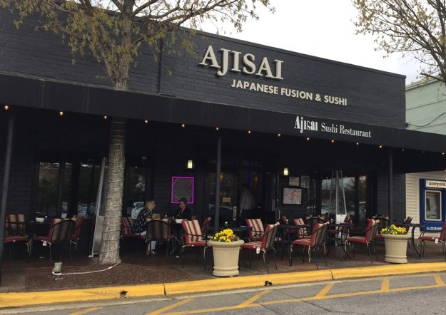 Front of Ajisai Japanese in Raleigh- NC Triangle Dining
