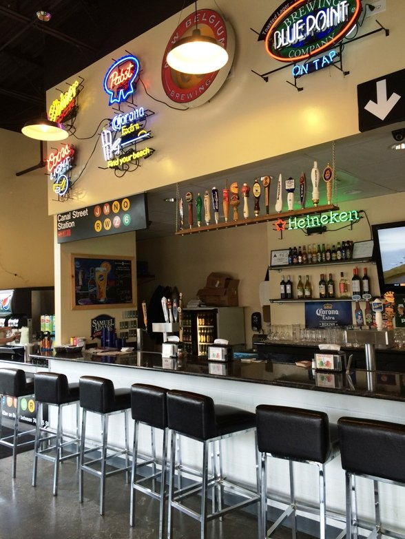 Bar at Brothers of NY Pizza in Cary- NC Triangle Dining