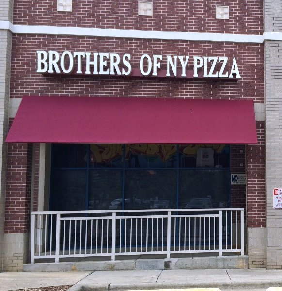 Front of Brothers of NY Pizza in Cary- NC Triangle Dining