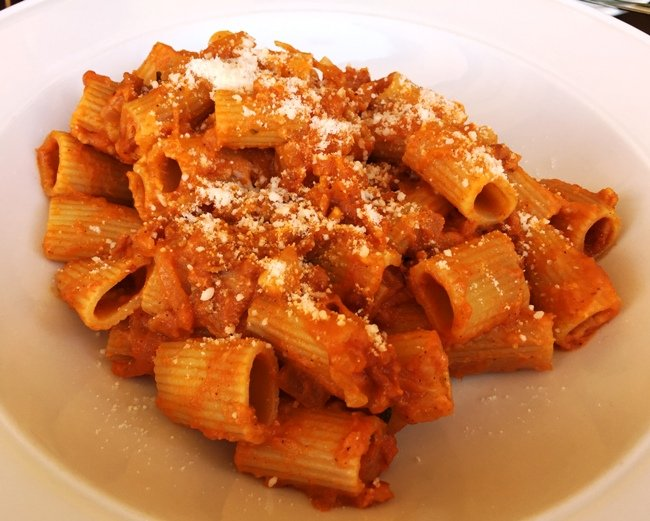 Rigatoni amatraciana at Enrigo Italian Bistro in Cary- NC Triangle Dining