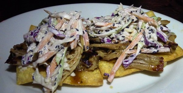 Asian pork tostada at Five Star Restaurant in Raleigh- NC Triangle Dining