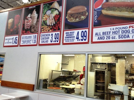 Food stand at Costco in Raleigh- NC Triangle Dining