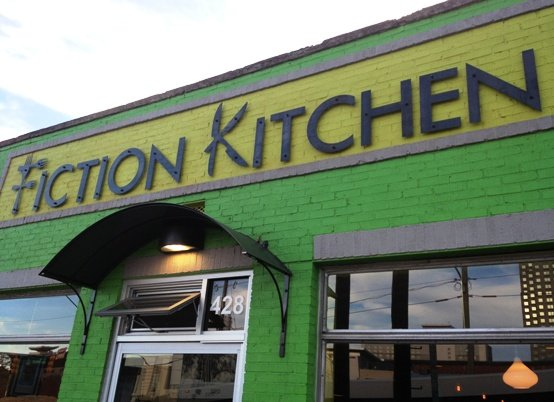 Bright facade of the Fiction Kitchen, Raleigh- NC Triangle Dining