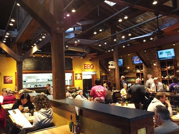 Nice interior of the Blistered Pig Smokehouse in Apex- NC Triangle Dining