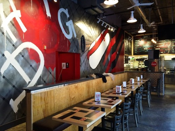 Edgy interior at Crazy 8's Raleigh- NC Triangle Dining