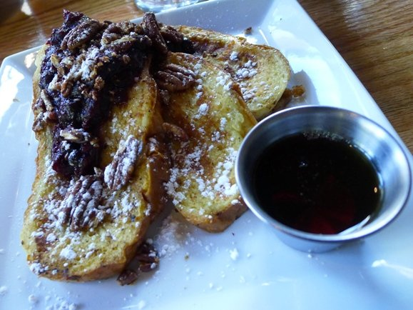 Challah french toast at the Oak in Raleigh- NC Triangle Dining