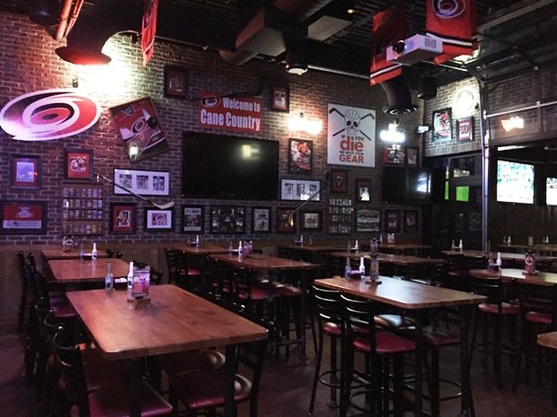 Hurricanes room at the new Carolina Ale House, Downtown Raleigh- NC Triangle