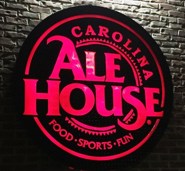 Sign for the new Carolina Ale House, Downtown Raleigh- NC Triangle Dining
