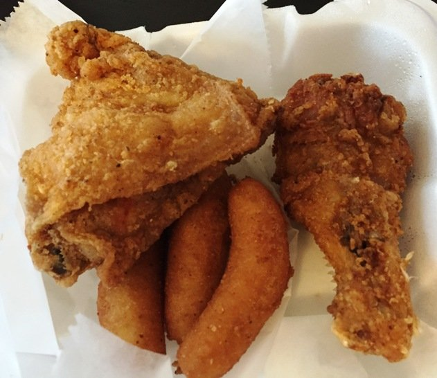 Fried chicken snack at Jack's Seafood and Soul Food in Raleigh- NC Triangle Dining