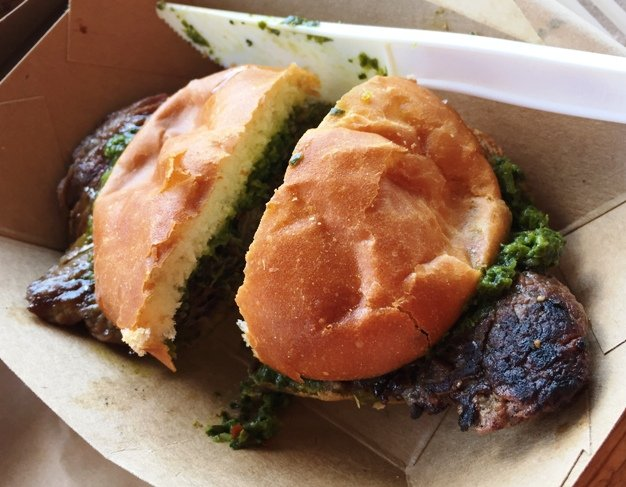 Steak slider at Parts & Labor at Motorco, Durham- NC Triangle Dining