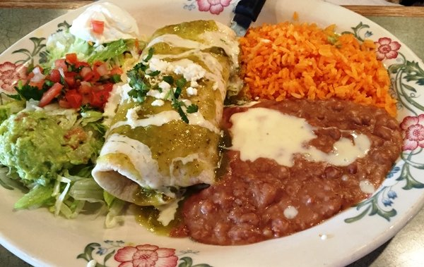 Burrito plate at Tacos y Mariscos Vallarta in Raleigh - NC Triangle Dining