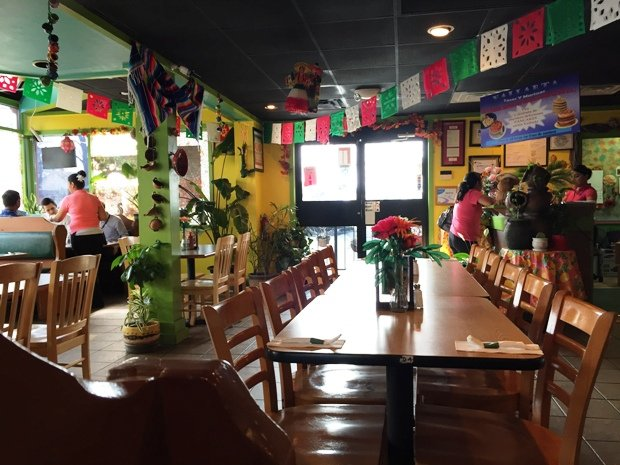 Bright interior of Tacos y Mariscos Vallarta in Raleigh - NC Triangle Dining