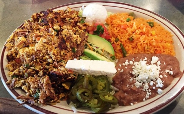 Mochaca plate at Tacos y Mariscos Vallarta in Raleigh - NC Triangle Dining