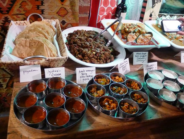 Delicious buffet at Vimala's Curryblossom Cafe, Chapel Hill- NC Triangle Dining