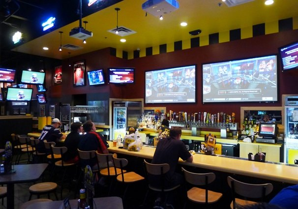 Bar at Buffalo Wild Wings, Morrisville- NC Triangle Dining