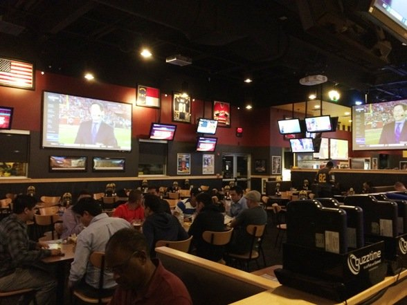 Main dining room at Buffalo Wild Wings, Morrisville- NC Triangle Dining