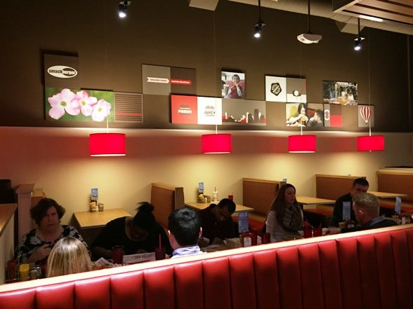 Seating at Smashburger, N. Raleigh- NC Triangle Dining
