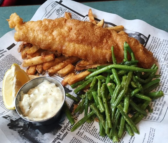 Fish and chips at Doherty's Irish Pub in Apex- NC Triangle Dining