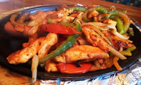 Chicken fajitas at La Rancherita, Raleigh- NC Triangle Dining