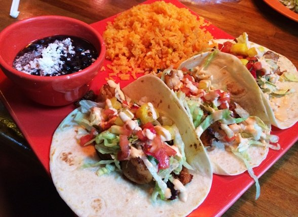 Shrimp and chorizo tacos at La Rancherita, Raleigh- NC Triangle Dining