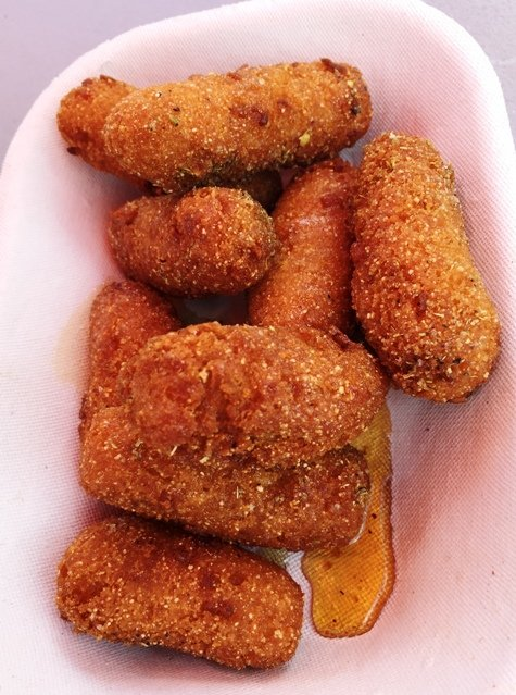 Honey hush-puppies at Saltbox Seafood in Durham- NC Triangle Dining