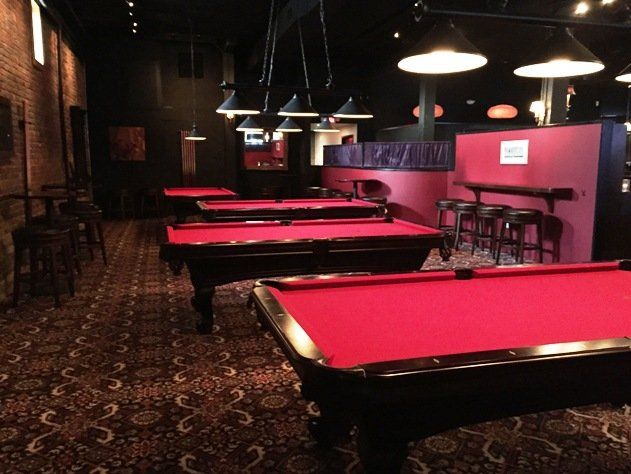 Billiards area at Circa 1888 in Raleigh- NC Triangle Dining