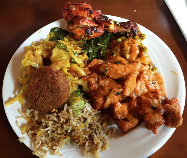 Yummy plate of Indian food at Saffron in Morrisville- NC Triangle Dining