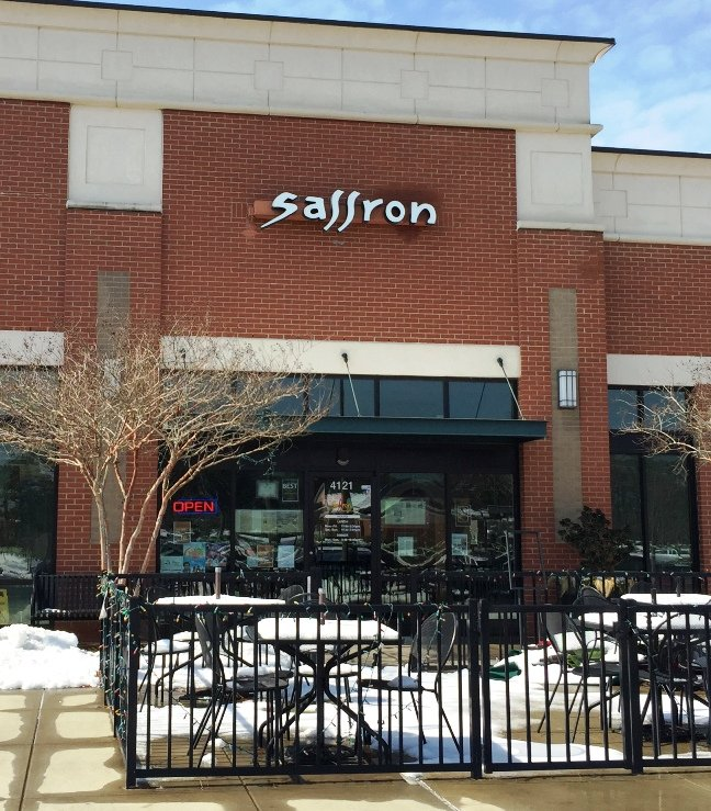 Front of Saffron in Morrisville and yes, this is an old picture- NC Triangle Dining