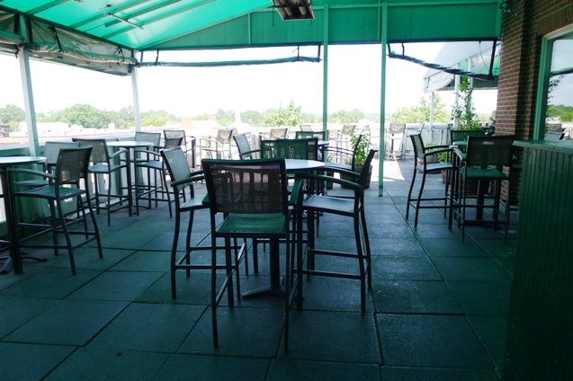 Covered patio at Top of the Hill in Chapel Hill- NC Triangle Dining