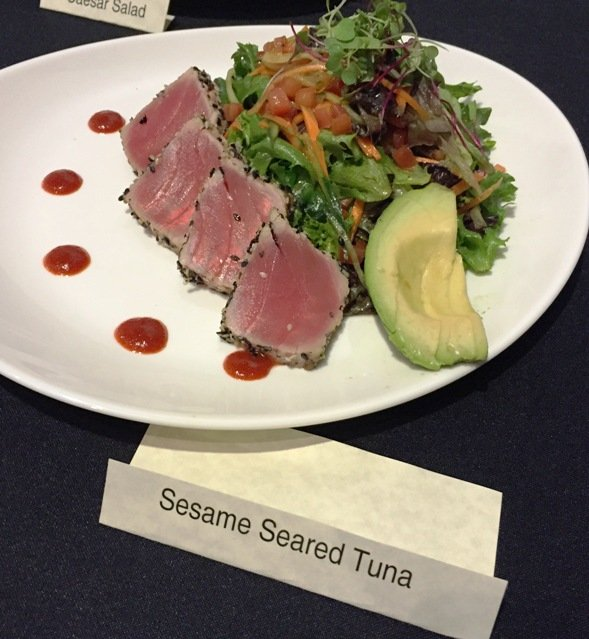 Seared tuna at at Cinebistro in Cary- NC Triangle
