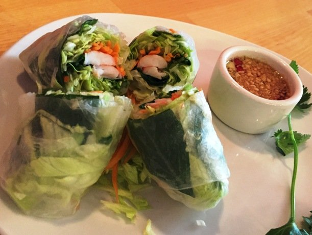 Summer rolls at Goji Bistro, Cary- NC Triangle Dining