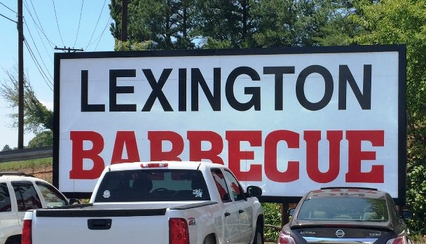 Sign at Lexington Barbecue in Lexington- NC Triangle Dining